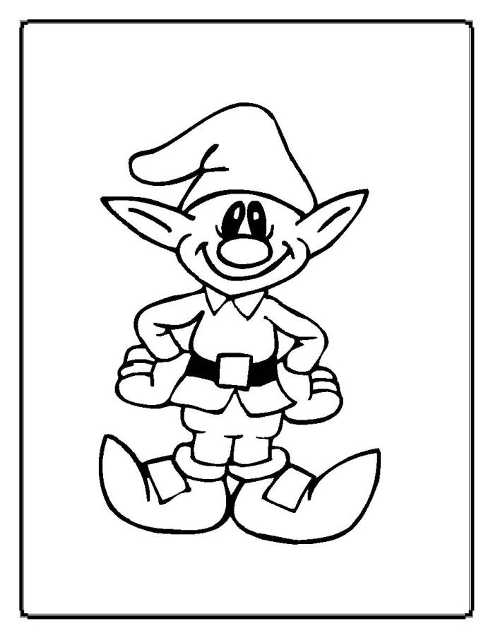 Coloring Sheet Christmas Elf Print Coloring Pages Free