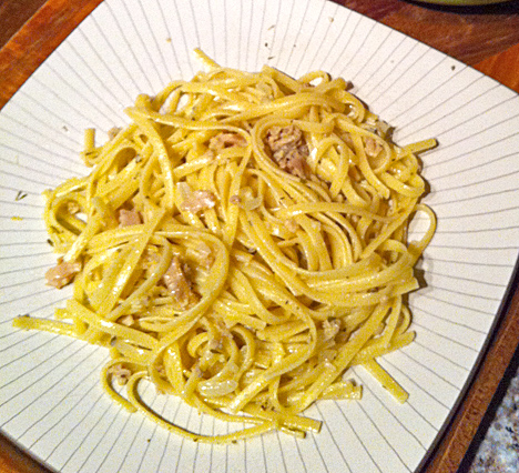 Linguini with lemon clam sauce