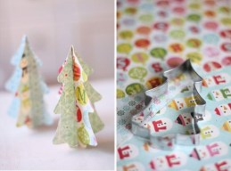 Vánoční stromeček z papíru: - Zdroj: Ellasinspiration.se