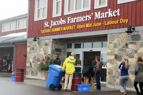Front entrance to the market