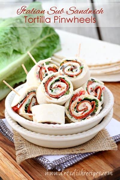 Tortilla Wraps Pinwheels