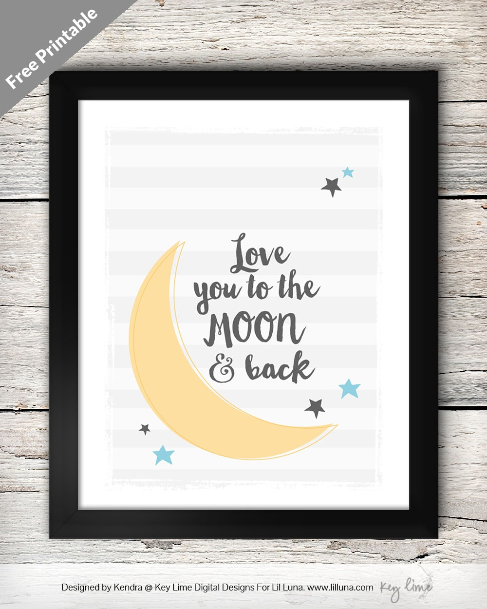 I Love You To The Moon And Back Pictures : pictures, Print, Let's, Kritsyn, Merkley