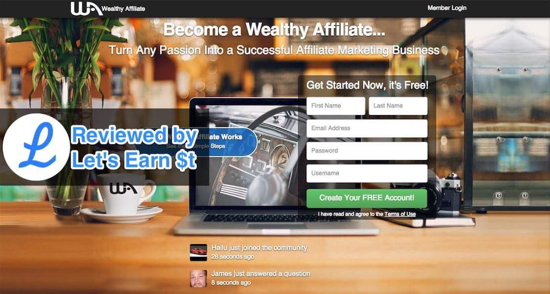 Wealthy Affiliate Review With Lable