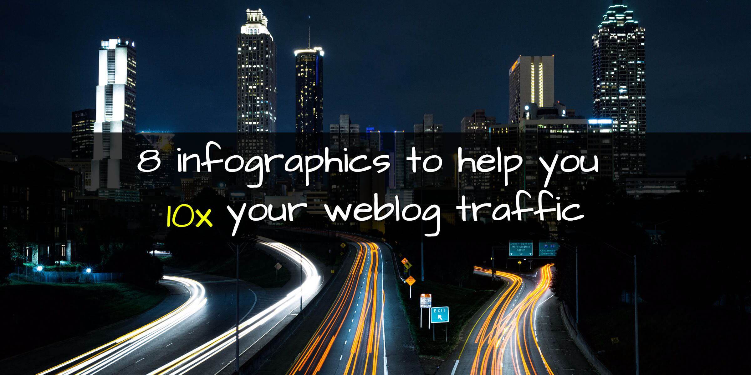 8 [infographics] to Help You 10x Your Blog Traffic
