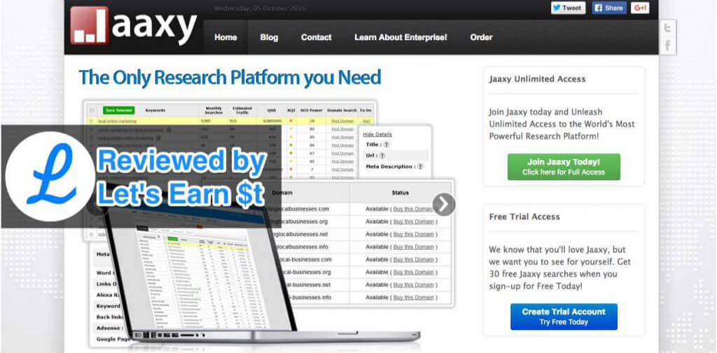 Jaaxy review featured image