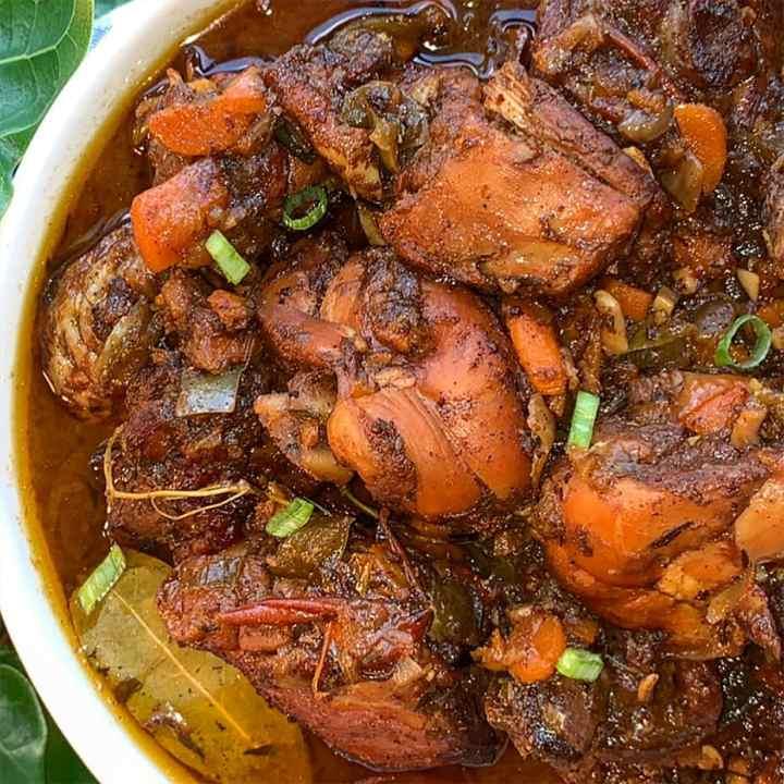 brown stew chicken recipe