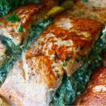 Stuffed salmon recipe