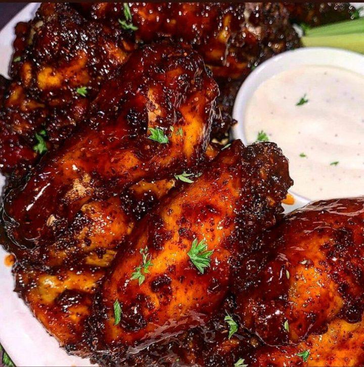 sticky honey buffalo wings recipe