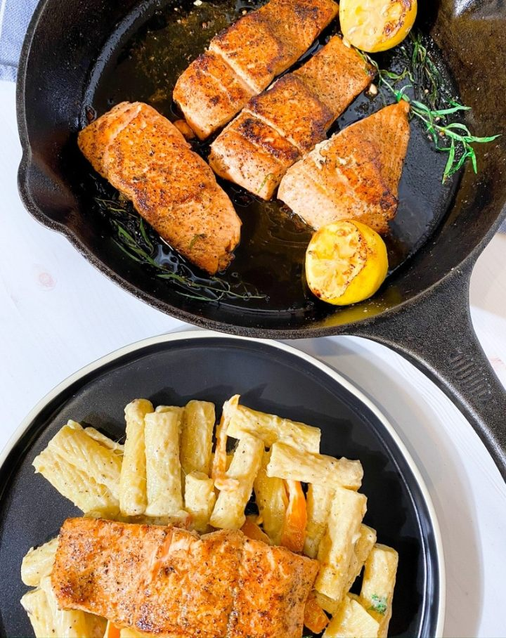 salmon rasta pasta