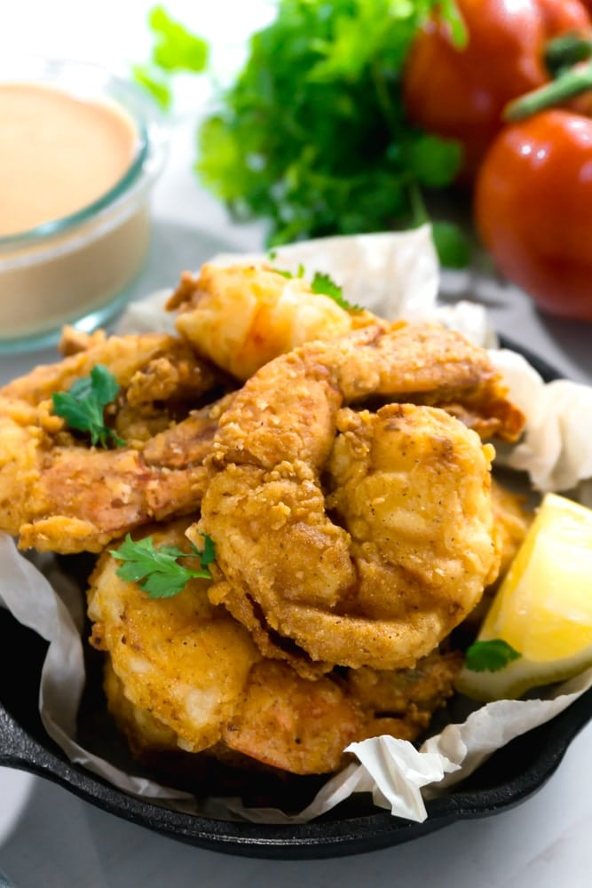 New Orleans fried shrimp