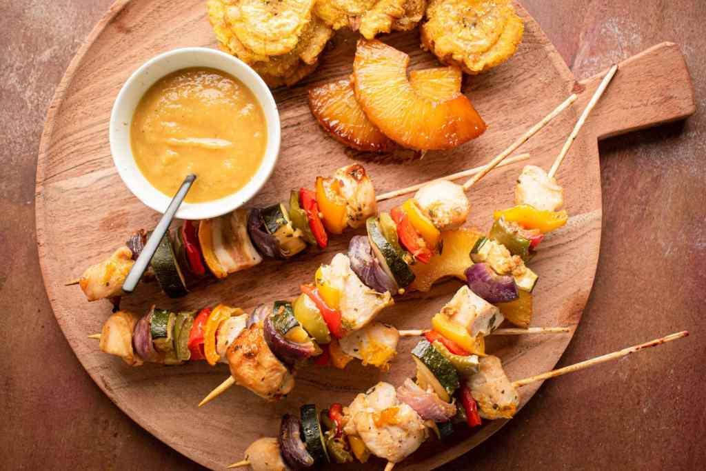 Pineapple Jerk Chicken Kabobs recipe