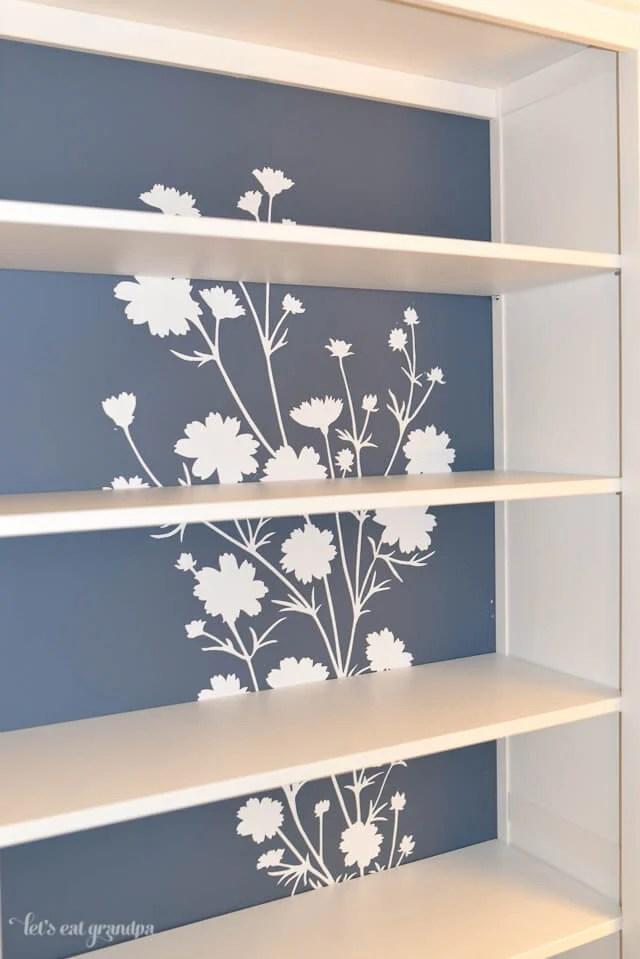 Bookshelf makeover with Wallternatives by Let's Eat Grandpa