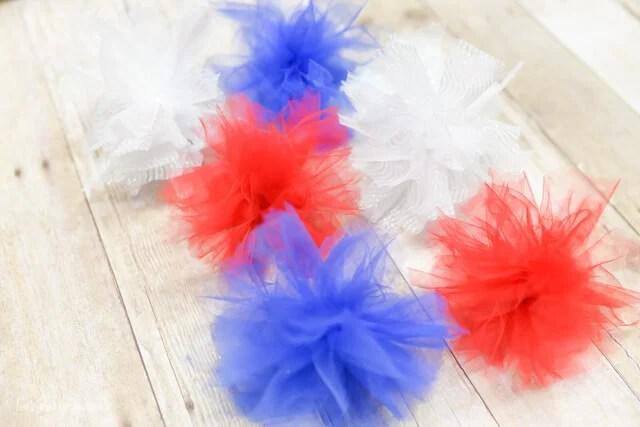 Patriotic Tulle Fireworks Tutorial by Let's Eat Grandpa