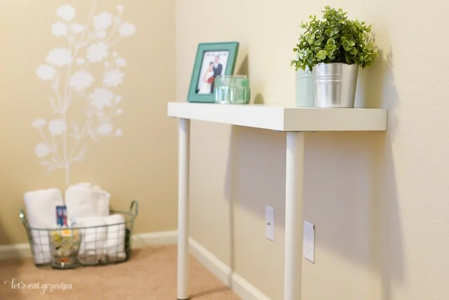 lack sofa table as desk bed sprung mattress replacement simple ikea hack narrow console hey let s make stuff guest room makeover for 200