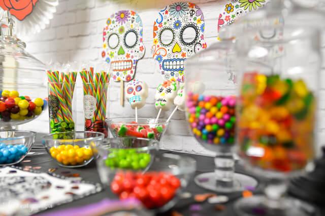 Dia de los Muertos candy bar from www.letseatgrandpa.com   Tons of great ideas from @worldmarket