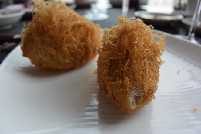 Deep-fried taro puff dumpling