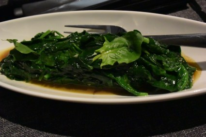 Spinach garlic asiate.