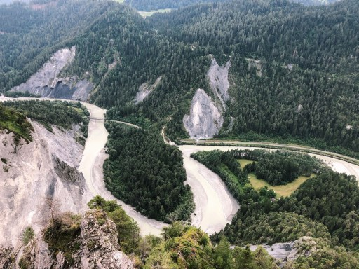 Il Spir in Flims, a view point over the Rhine Gorge