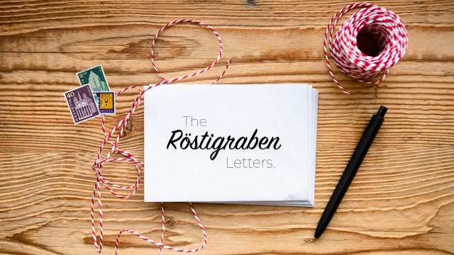 Röstigraben letters, Swiss culture