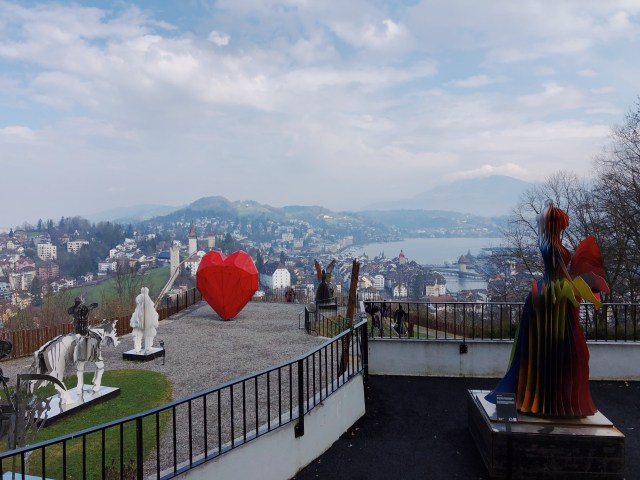 View on Lucerne from Chateau Gutsch