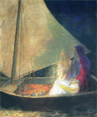 Redon's Boat With Two Figures