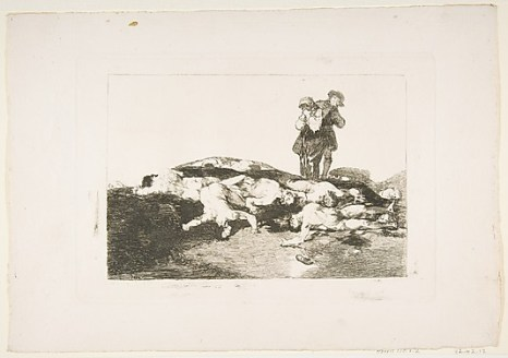 """""""Bury Them and Keep Quiet"""" from Goya's """"Disasters of War"""""""