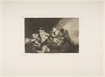 """""""One Can't Look"""" from Goya's """"Disasters of War"""""""