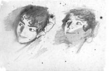 study for John Singer Sargent's El Jaleo