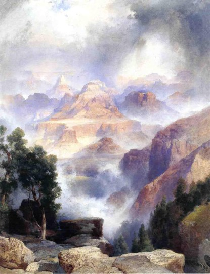 "Thomas Moran's ""A Showery Day, Grand Canyon"""