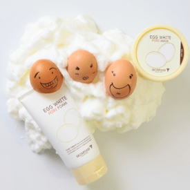 Skinfood egg white pore mask with eggs and foam