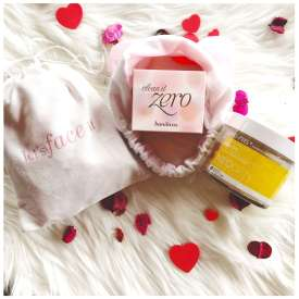 Valentine's Day korean beauty gift pack under $100 with banila co and neogen bio peel gauze lemon