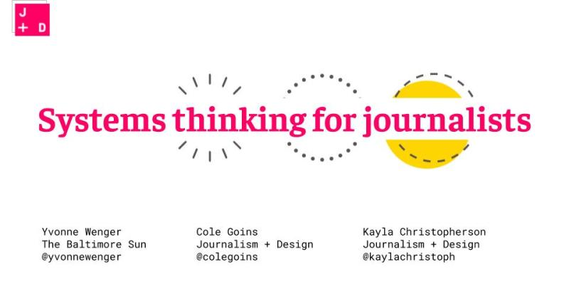 Slide: Systems thinking for journalists