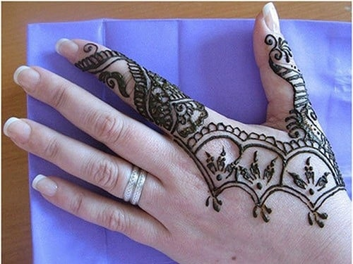 Gambar Motif Henna Tangan Simple