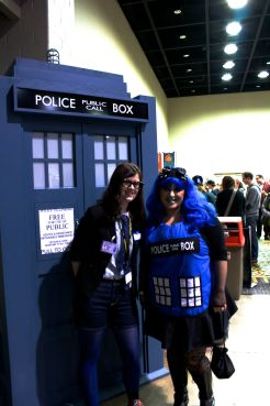 Cierra with the TARDIS girl
