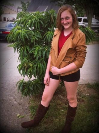 Amelia as Amelia with Boots