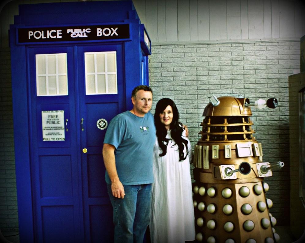 Me with the builder of the T.A.R.D.I.S. (my boyfriend) and Dalek Gan!!!