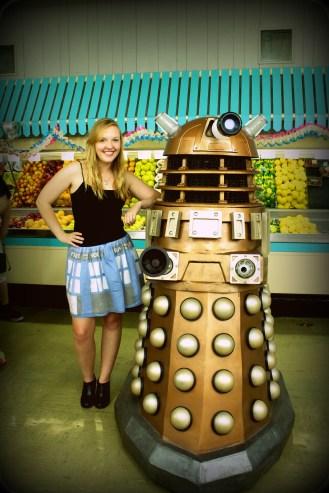 Kelsey with Dalek Gana