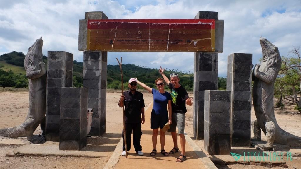 Wejście do parku narodowego Komodo