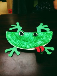 Chipper Recycle Craft: Paper Plate Frog | Let's Go Chipper!