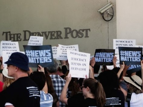 Journalists and supporters alike protest the lack of high-quality content with #NewsMatters