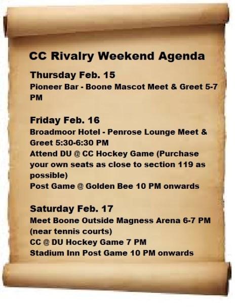 Goddard Schedule
