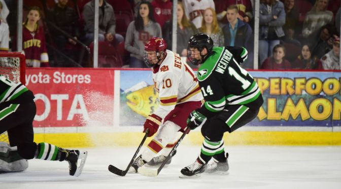 Denver earns NCHC best sixth-straight Frozen Faceoff trip by ending North Dakota's season