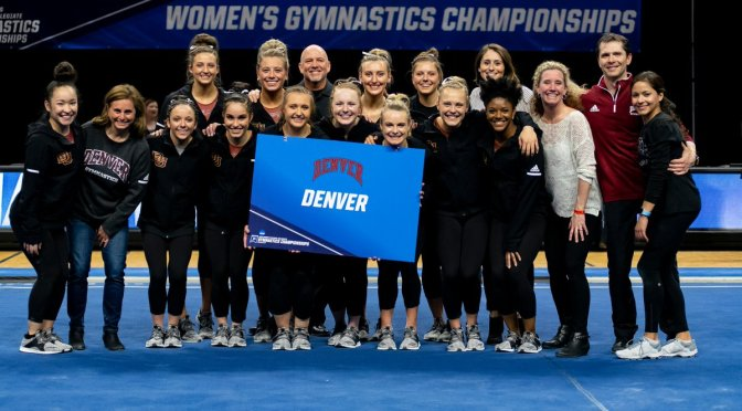 DU Gymnastics Advances to the Elite 8