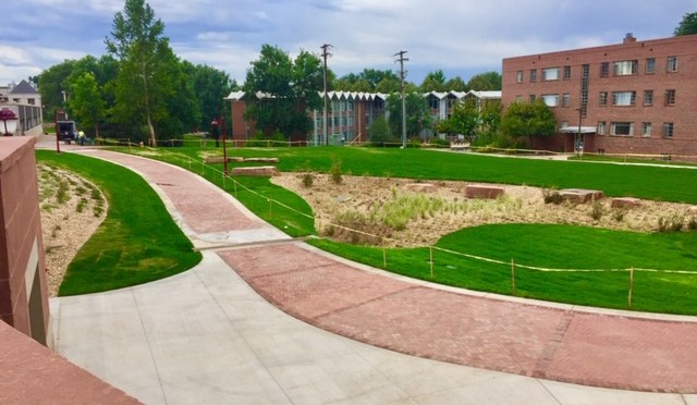 Aspen Hall green space nears completion