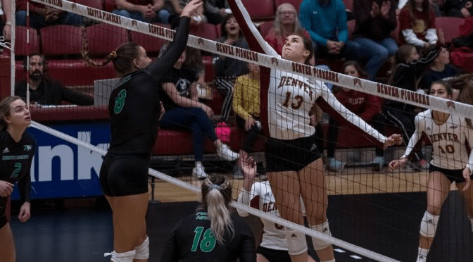 Denver Volleyball Sweeps North Dakota, 3-0, for eighth win in last nine matches