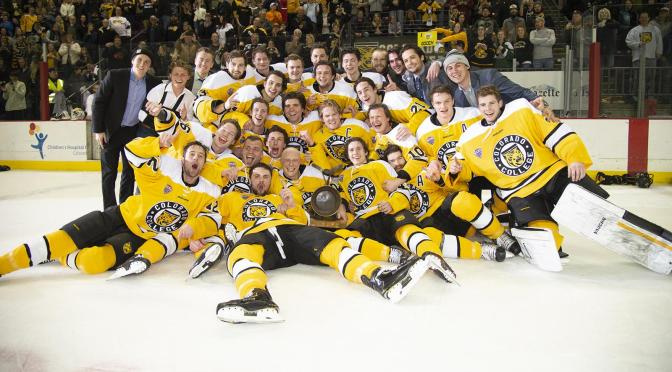Colorado College Enjoying Season-Long Gold Pan Celebration