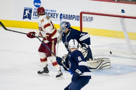 Denver-junior-forward-Jarid-Lukosevicius-of-Squamish-B.C.-screened-the-Penn-State-goalie