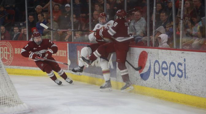 Pioneers withstand UMass-Amherst push & Filip Lindberg heroics to exact Frozen Four revenge