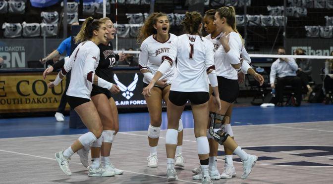 Denver Volleyball Drops Summit League Title Match in Marathon Tilt