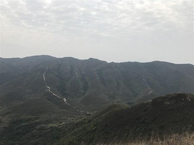 南涌大灣>海背嶺>龜頭嶺>南涌郊遊徑>平頂坳>丹竹坑>獅頭嶺